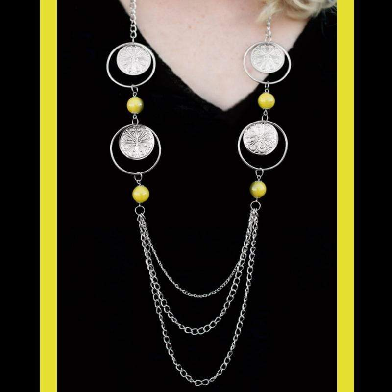 Wicked Wonders VIP Bling Necklace Utter Amazement Yellow Necklace Affordable Bling_Bling Fashion Paparazzi