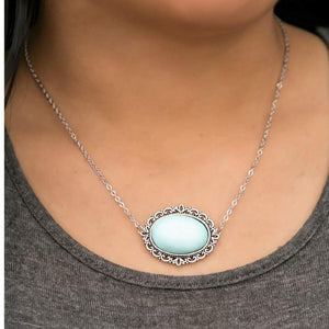 Wicked Wonders VIP Bling Necklace Veni, Vidi Vici Blue Stone Necklace Affordable Bling_Bling Fashion Paparazzi