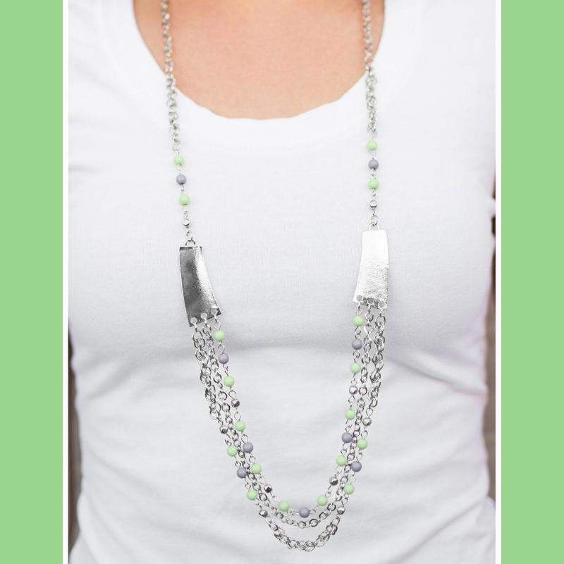Wicked Wonders VIP Bling Necklace Vivacious Vibes Green Necklace Affordable Bling_Bling Fashion Paparazzi