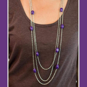 Wicked Wonders VIP Bling Necklace Voodoo Vixen Purple Necklace Affordable Bling_Bling Fashion Paparazzi