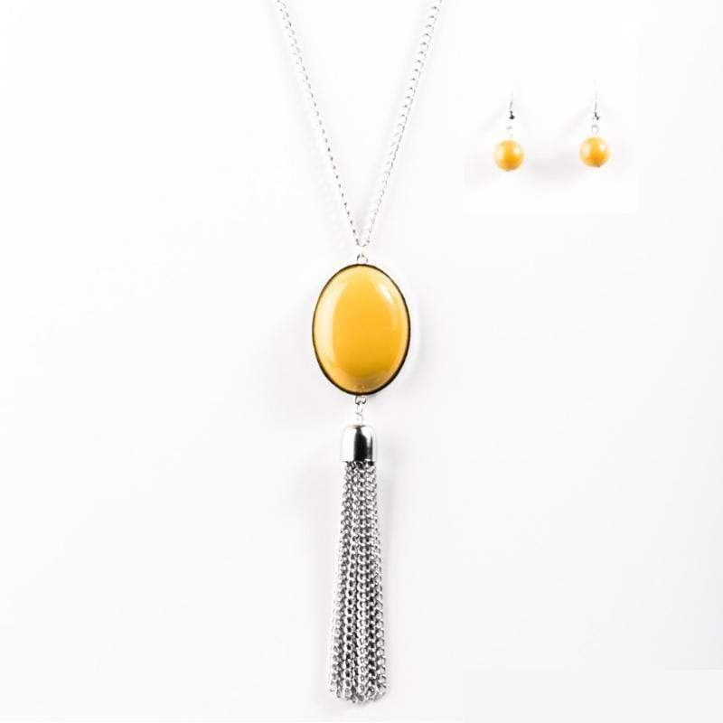 Wicked Wonders VIP Bling Necklace Wayward Wanderer Yellow Necklace Affordable Bling_Bling Fashion Paparazzi