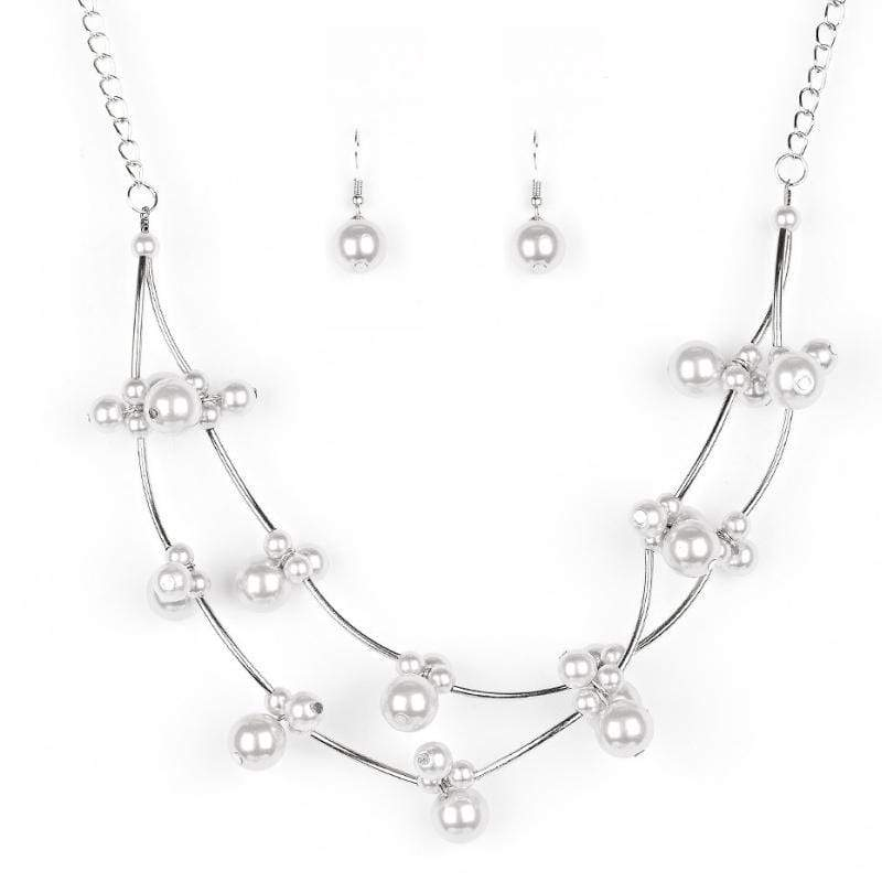 Wicked Wonders VIP Bling Necklace Wedding BELLES Silver Necklace Affordable Bling_Bling Fashion Paparazzi