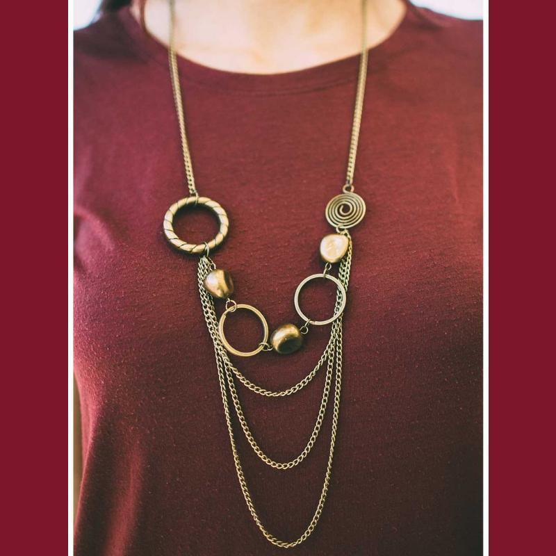 Wicked Wonders VIP Bling Necklace Wonderful Crazy Night Brass Necklace Affordable Bling_Bling Fashion Paparazzi