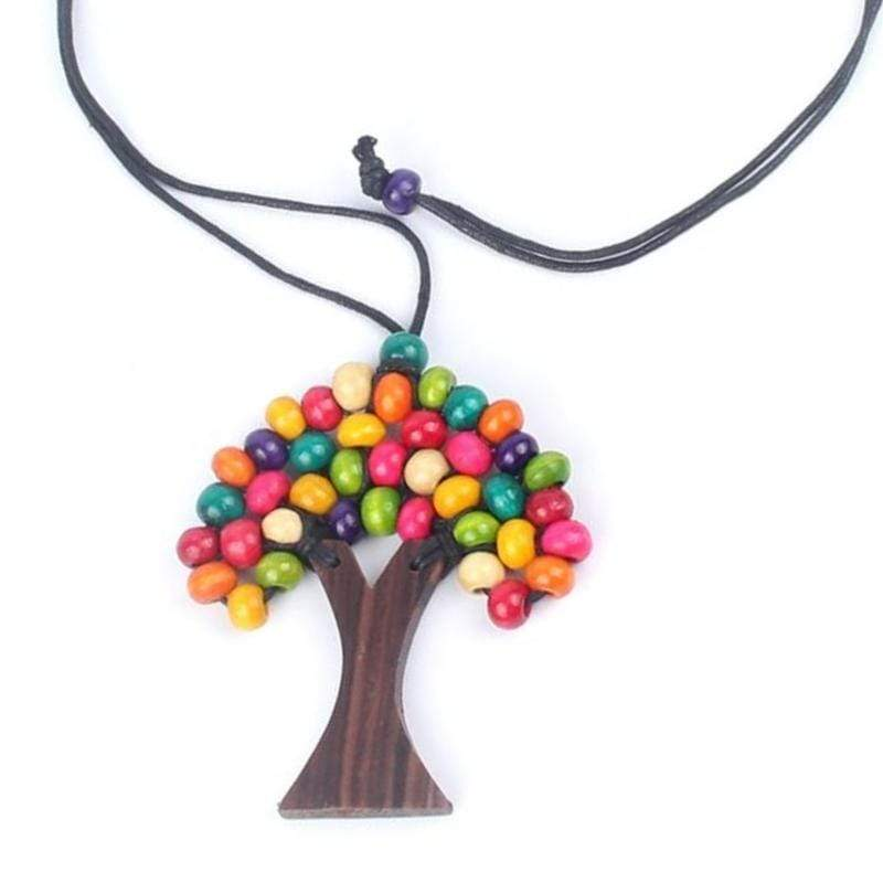 Wicked Wonders VIP Bling Necklace WOOD You Plant a Tree Multi-Color Wooded Necklace Affordable Bling_Bling Fashion Paparazzi