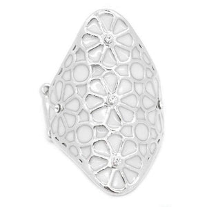 Wicked Wonders VIP Bling Ring A Spring Spree White Ring Affordable Bling_Bling Fashion Paparazzi