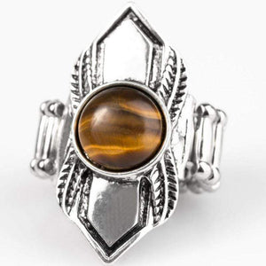 Wicked Wonders VIP Bling Ring BEAD Courageous Tigers Eye Ring Affordable Bling_Bling Fashion Paparazzi