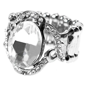 Wicked Wonders VIP Bling Ring Birthday Girl White Gem Ring Affordable Bling_Bling Fashion Paparazzi