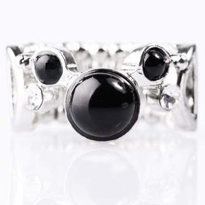 Wicked Wonders VIP Bling Ring Bobbing Along Black Ring Affordable Bling_Bling Fashion Paparazzi