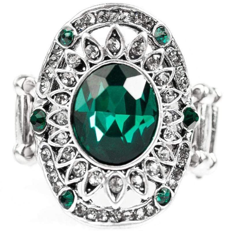 Wicked Wonders VIP Bling Ring Boss Babe Green Gem Ring Affordable Bling_Bling Fashion Paparazzi