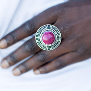 Wicked Wonders VIP Bling Ring Center Field Pink Ring Affordable Bling_Bling Fashion Paparazzi