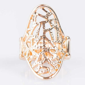 Wicked Wonders VIP Bling Ring Crash and Burn Gold Ring Affordable Bling_Bling Fashion Paparazzi