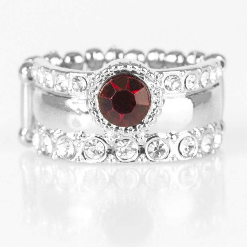 Wicked Wonders VIP Bling Ring Crown Achievement Red Gem Ring Affordable Bling_Bling Fashion Paparazzi