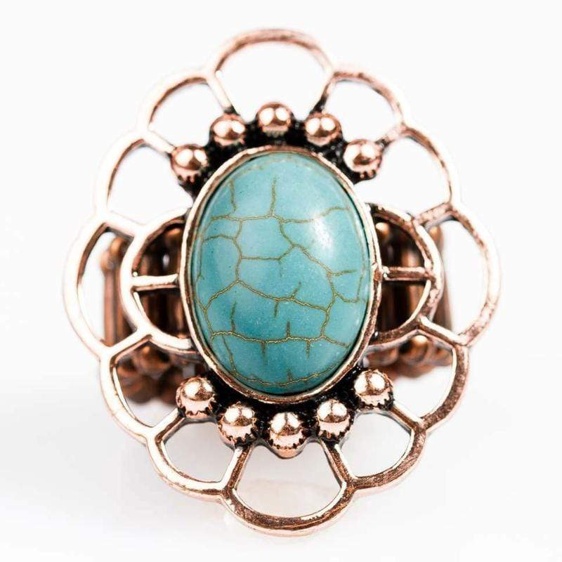 Wicked Wonders VIP Bling Ring Cruise Control Copper and Blue Stone Ring Affordable Bling_Bling Fashion Paparazzi