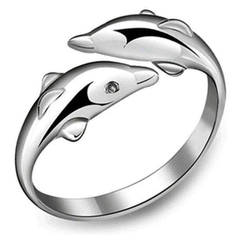 Wicked Wonders VIP Bling Ring Dolphin Personality Silver Adjustable Ring or Toe Ting Affordable Bling_Bling Fashion Paparazzi