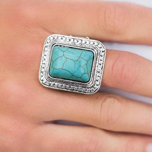 Wicked Wonders VIP Bling Ring Explorer Ridge Blue Stone Ring Affordable Bling_Bling Fashion Paparazzi