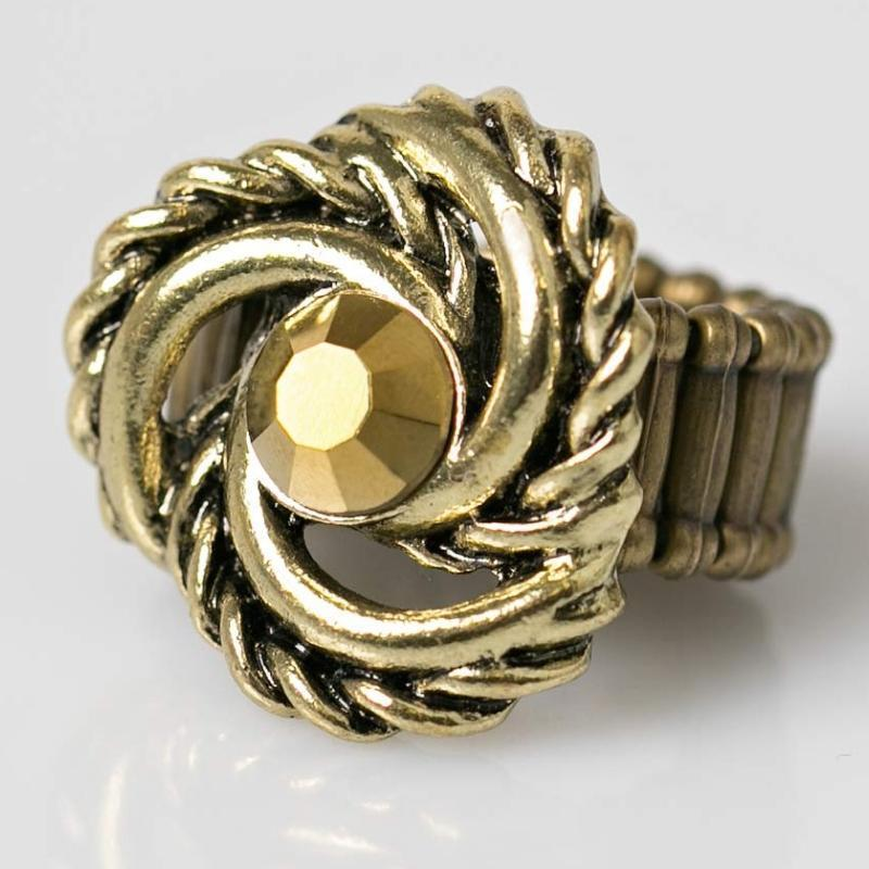 Wicked Wonders VIP Bling Ring Eye of the Hurricane Brass Ring Affordable Bling_Bling Fashion Paparazzi