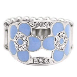 Wicked Wonders VIP Bling Ring Feels Like Spring Blue Ring Affordable Bling_Bling Fashion Paparazzi