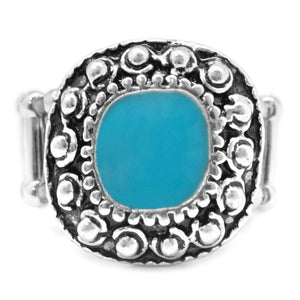 Wicked Wonders VIP Bling Ring Hold Your Horses Blue Ring Affordable Bling_Bling Fashion Paparazzi
