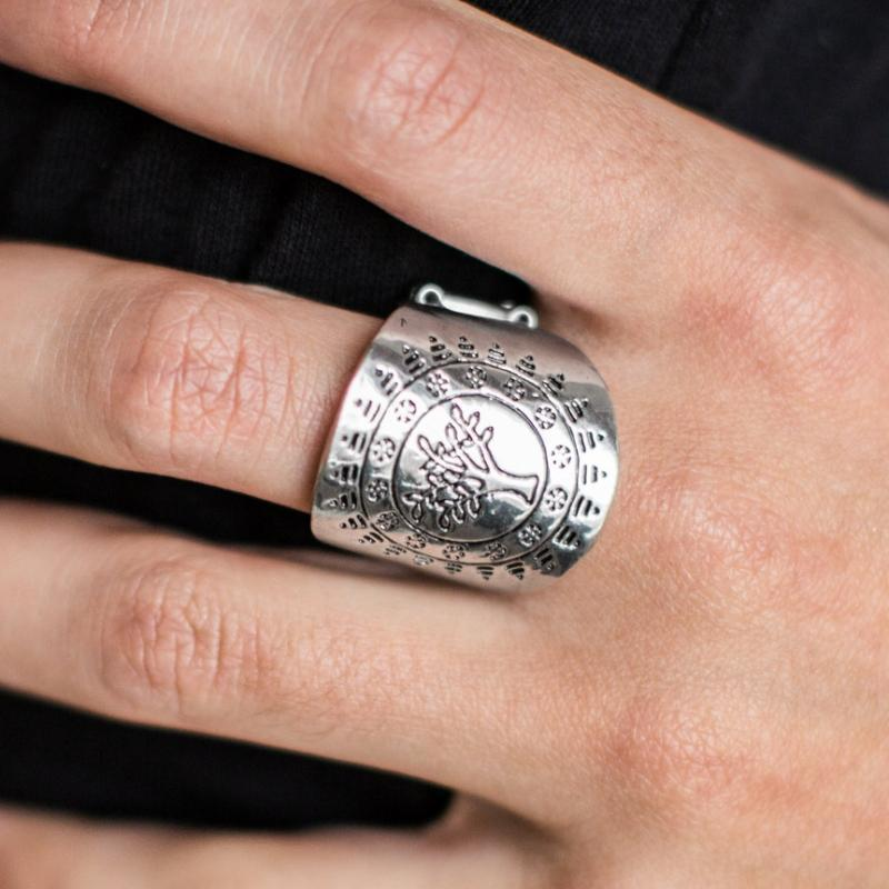 Wicked Wonders VIP Bling Ring It's a TREE Country Silver Ring Affordable Bling_Bling Fashion Paparazzi