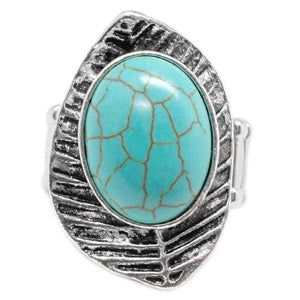 Wicked Wonders VIP Bling Ring LEAF No Stone Unturned Blue Ring Affordable Bling_Bling Fashion Paparazzi