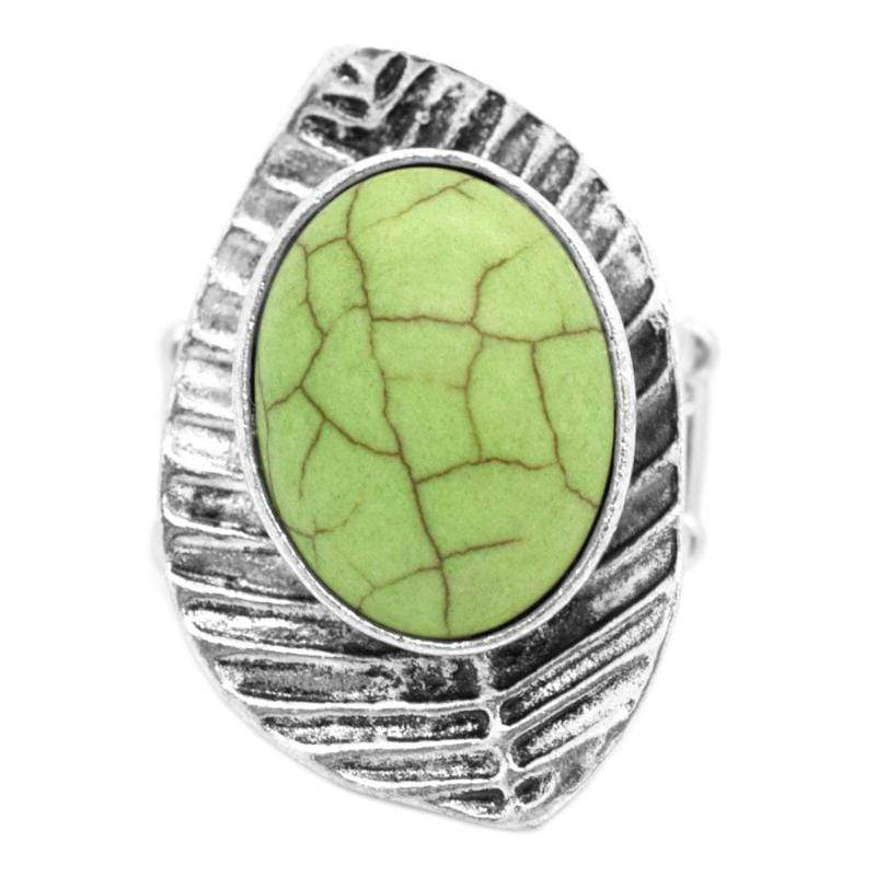 Wicked Wonders VIP Bling Ring LEAF No Stone Unturned Green Ring Affordable Bling_Bling Fashion Paparazzi