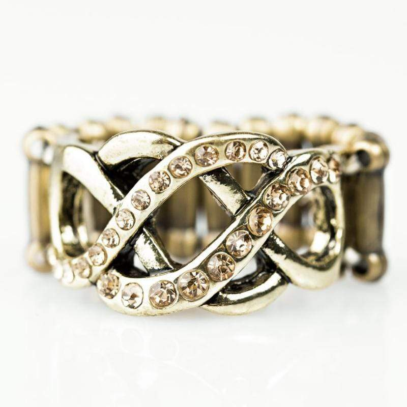 Wicked Wonders VIP Bling Ring Let Me Treasure You Brass Ring Affordable Bling_Bling Fashion Paparazzi