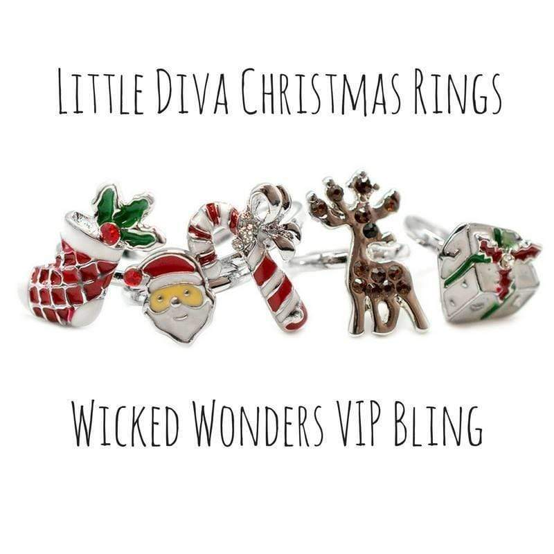 Wicked Wonders VIP Bling Ring Little Diva Christmas Rings Affordable Bling_Bling Fashion Paparazzi
