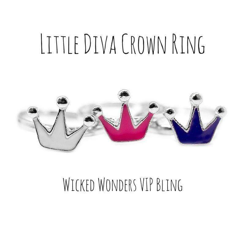 Wicked Wonders VIP Bling Ring Little Diva Crown Ring Affordable Bling_Bling Fashion Paparazzi