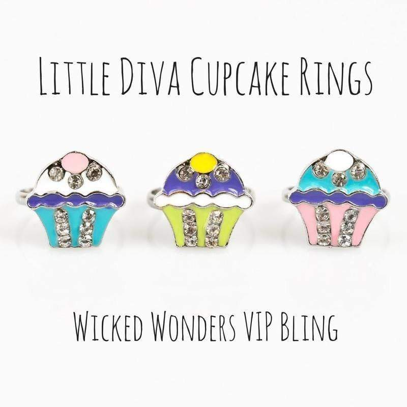 Wicked Wonders VIP Bling Ring Little Diva Cupcake Rings Affordable Bling_Bling Fashion Paparazzi