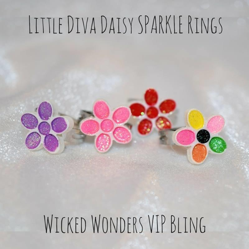 Wicked Wonders VIP Bling Ring Little Diva Daisy Sparkle Rings Affordable Bling_Bling Fashion Paparazzi