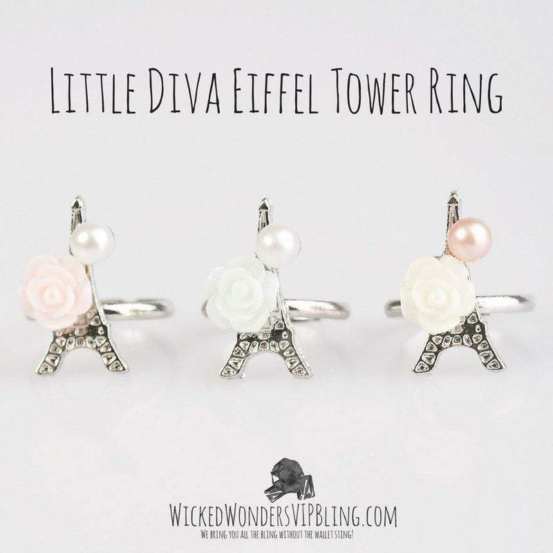 Wicked Wonders VIP Bling Ring Little Diva Eiffel Tower Ring Affordable Bling_Bling Fashion Paparazzi
