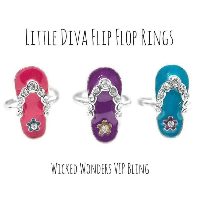 Wicked Wonders VIP Bling Ring Little Diva Flip Flop Ring Affordable Bling_Bling Fashion Paparazzi