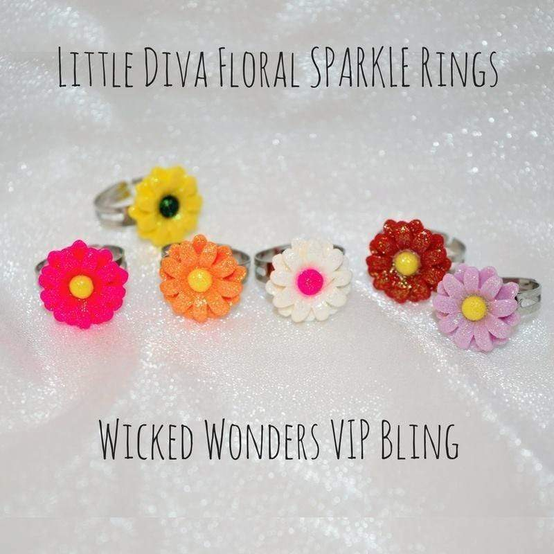 Wicked Wonders VIP Bling Ring Little Diva Floral SPARKLE Rings Affordable Bling_Bling Fashion Paparazzi