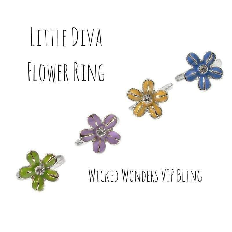 Wicked Wonders VIP Bling Ring Little Diva Flower Ring Affordable Bling_Bling Fashion Paparazzi
