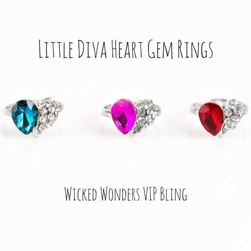 Wicked Wonders VIP Bling Ring Little Diva Heart Gem Rings Affordable Bling_Bling Fashion Paparazzi