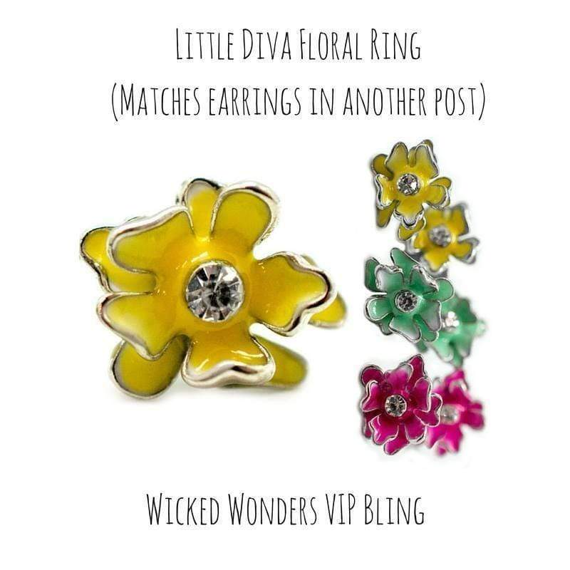Wicked Wonders VIP Bling Ring Little Diva Hibiscus Flower Ring Affordable Bling_Bling Fashion Paparazzi
