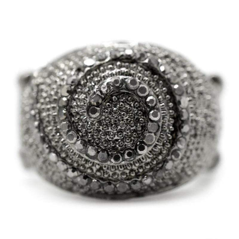 Wicked Wonders VIP Bling Ring Lost in Space Gunmetal Black Ring Affordable Bling_Bling Fashion Paparazzi