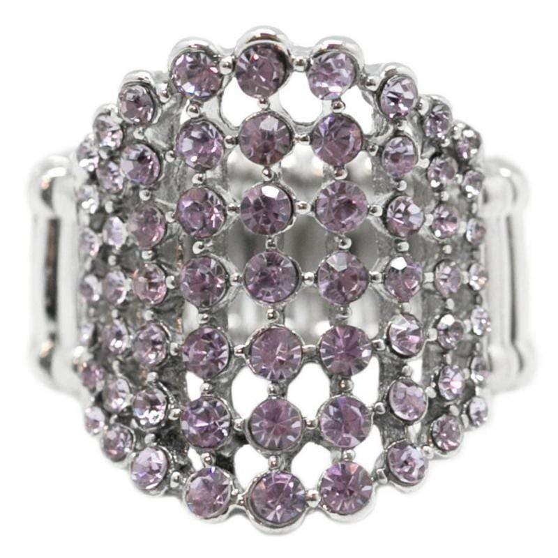 Wicked Wonders VIP Bling Ring Mama's Gonna Buy You a Diamond Ring Purple Affordable Bling_Bling Fashion Paparazzi