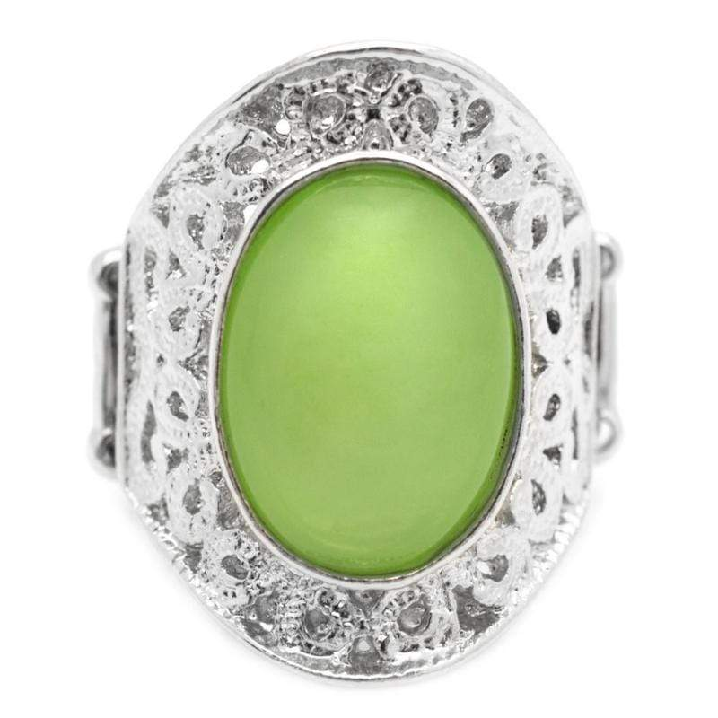 Wicked Wonders VIP Bling Ring Moons Over Miami Green Ring Affordable Bling_Bling Fashion Paparazzi
