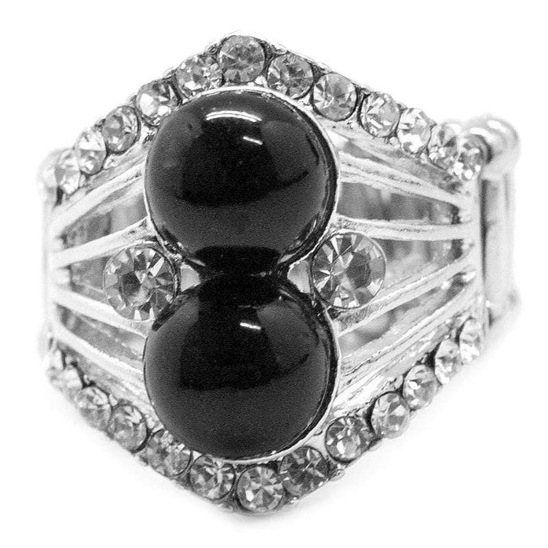 Wicked Wonders VIP Bling Ring Ms. Marvelous Black Ring Affordable Bling_Bling Fashion Paparazzi