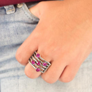 Wicked Wonders VIP Bling Ring Offbeat Pink Ring Affordable Bling_Bling Fashion Paparazzi