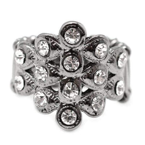 Wicked Wonders VIP Bling Ring Poor Little Rich Girl Gunmetal Black Ring Affordable Bling_Bling Fashion Paparazzi