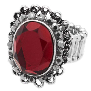 Wicked Wonders VIP Bling Ring Queen of the Castle Red Ring Affordable Bling_Bling Fashion Paparazzi