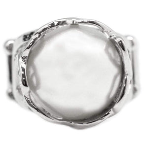 Wicked Wonders VIP Bling Ring Queen of the Sea White Ring Affordable Bling_Bling Fashion Paparazzi