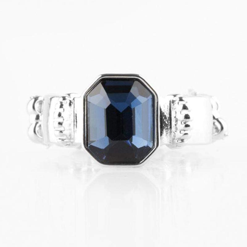 Wicked Wonders VIP Bling Ring Regal Relic Blue Gem Ring Affordable Bling_Bling Fashion Paparazzi