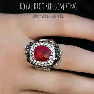 Wicked Wonders VIP Bling Ring Royal Riot Red Gem Ring Affordable Bling_Bling Fashion Paparazzi