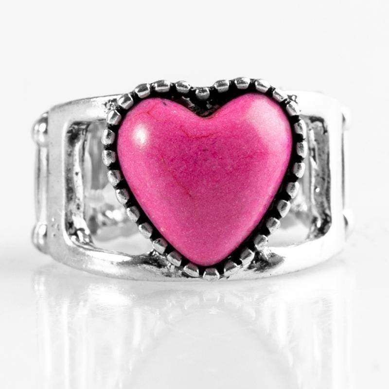 Wicked Wonders VIP Bling Ring Rule With Your Heart Pink Stone Ring Affordable Bling_Bling Fashion Paparazzi