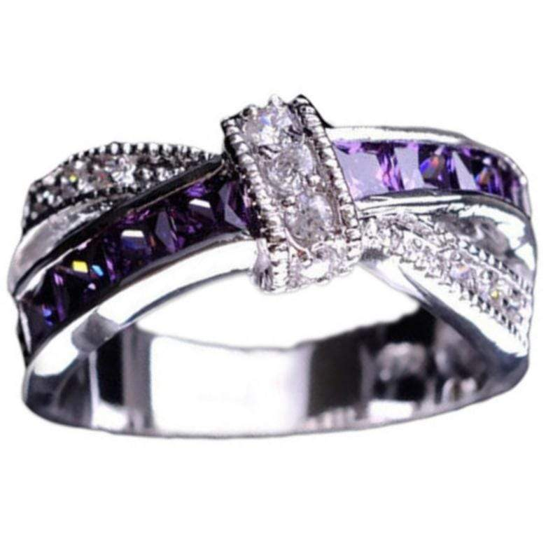 Wicked Wonders VIP Bling Ring Shining for Alzheimer's Purple Gem Ring Affordable Bling_Bling Fashion Paparazzi