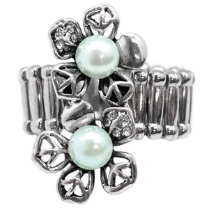 Wicked Wonders VIP Bling Ring Should Have Brought You Flowers Blue Ring Affordable Bling_Bling Fashion Paparazzi