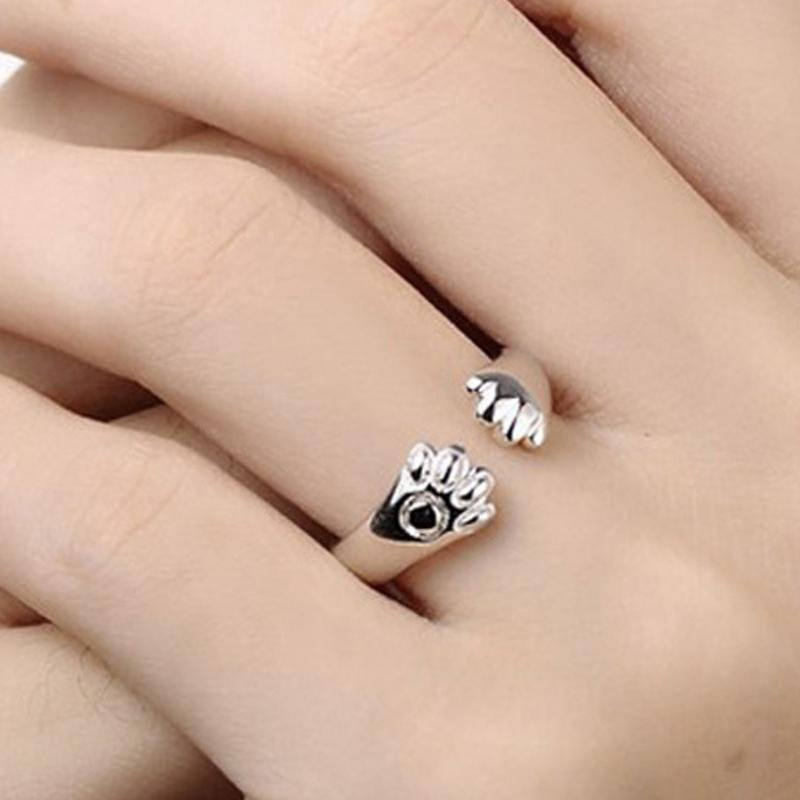 Wicked Wonders VIP Bling Ring Silver Paws Adorable Silver Adjustable Ring or Toe Ring Affordable Bling_Bling Fashion Paparazzi